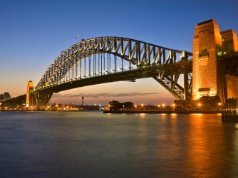 australia, sydney harbor bridge