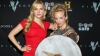 Katheryn Winnick meets with a fellow Vikings shield-maiden at the All Hail Vikings party. (Photo Credit: Paul A. Hebert/WireImage)