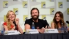 Katheryn Winnick, Clive Standen and Jessalyn Gilsig at the All Hail Vikings panel (Photo Credit: Ethan Miller/WireImage)
