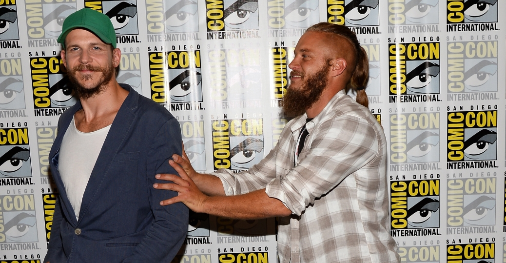 Gustaf Skarsgård and Travis Fimmel (Photo Credit: Ethan Miller/WireImage)