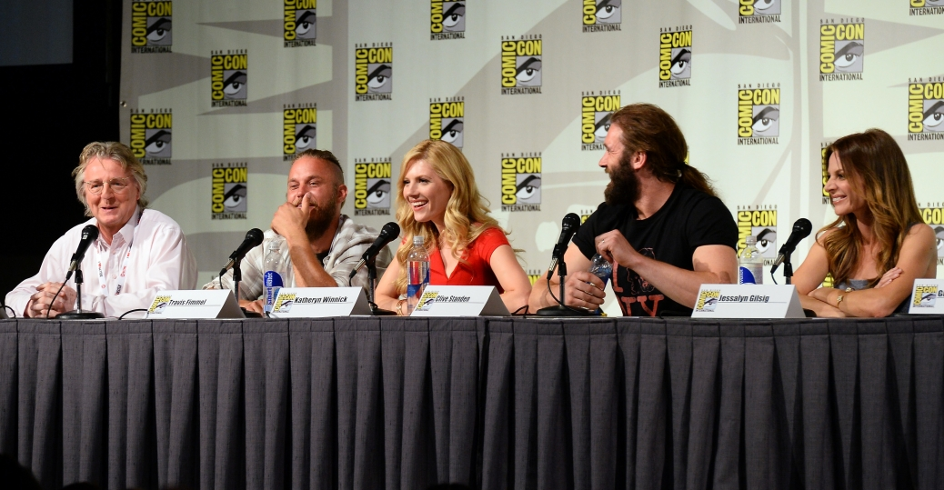 Creator Michael Hirst, Travis Fimmel, Katheryn Winnick, Clive Standen and Jessalyn Gilsig (Photo Credit: Ethan Miller/WireImage)
