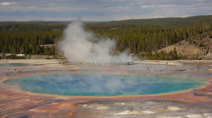 how the earth was made, yellowstone, grand prismatic springs
