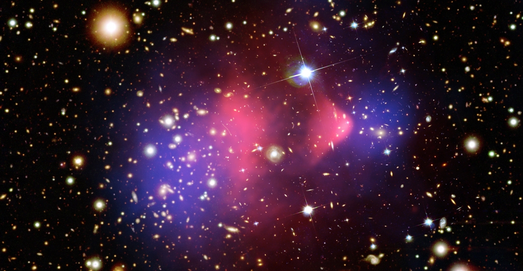 universe, the universe, bullet cluster, dark matter