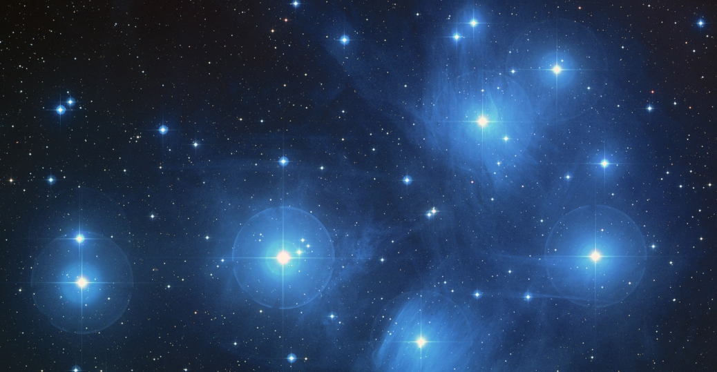 universe, the universe, the pleiades