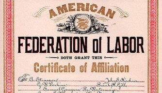 American Federation of Labor Charter for Cigar Makers