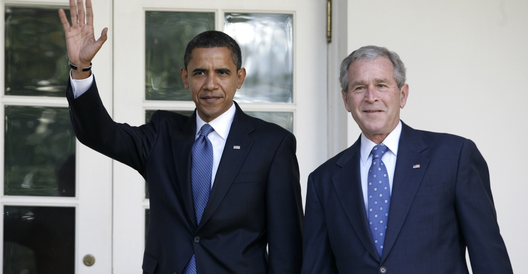 senator john mccain, george w bush, barack obama, 2008, presidential election