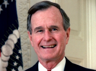 george herbert walker bush american politician Former us republican president george bush sr has confirmed he  change -  instead of a lifelong politician beholden to special interests,.