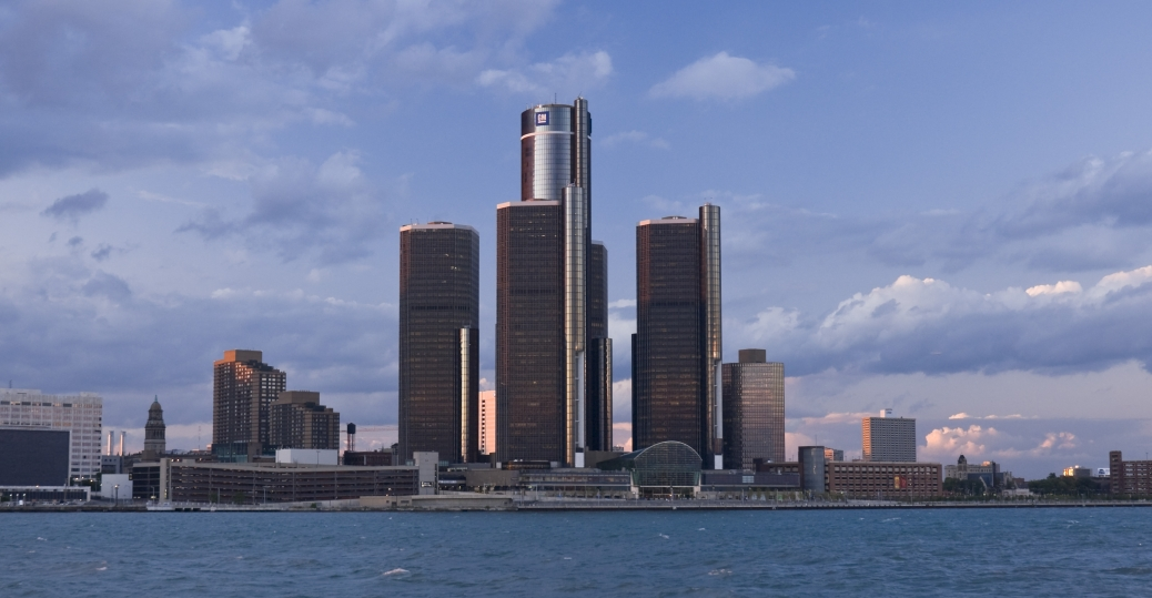 Usa Michigan Detroit Renaissance Center General Motors Hq