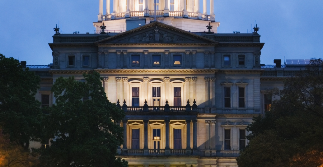 capital city, lansing, michigan, state capitol building