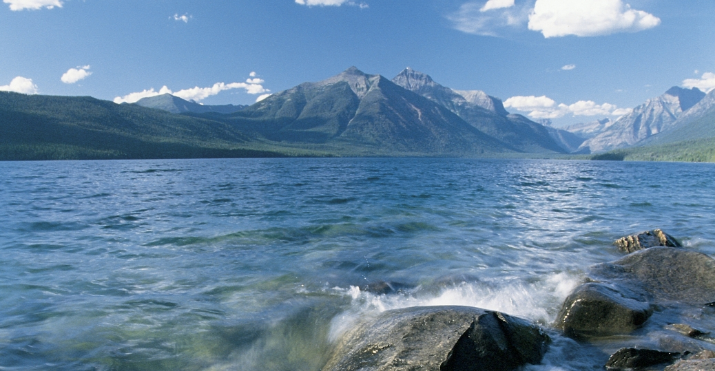 glacier national park, montana, waterton lakes national park, peace park, lakes