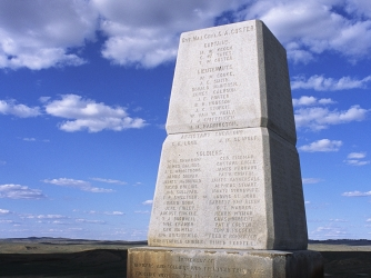 george armstrong custer, little bighorn, battlefield, national monument, montana