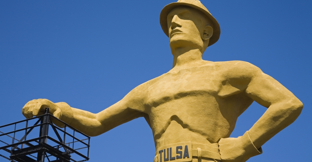 tulsa, oklahoma, second largest city, oil industry, the golden driller