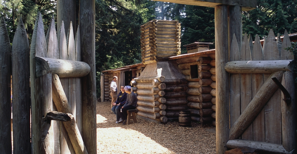 fort clatsop, national memorial, lewis and clark, reconstructed fort, oregon