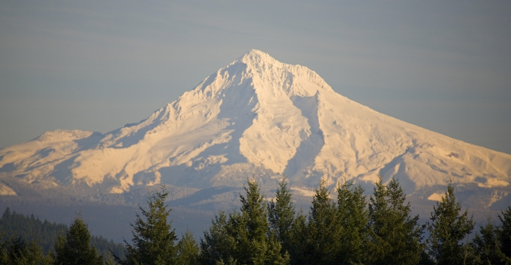 mount hood, oregon, mountain, tallest mountain