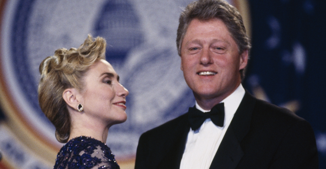 hillary clinton, bill clinton, senator 2001, president 2008, inaugural ball
