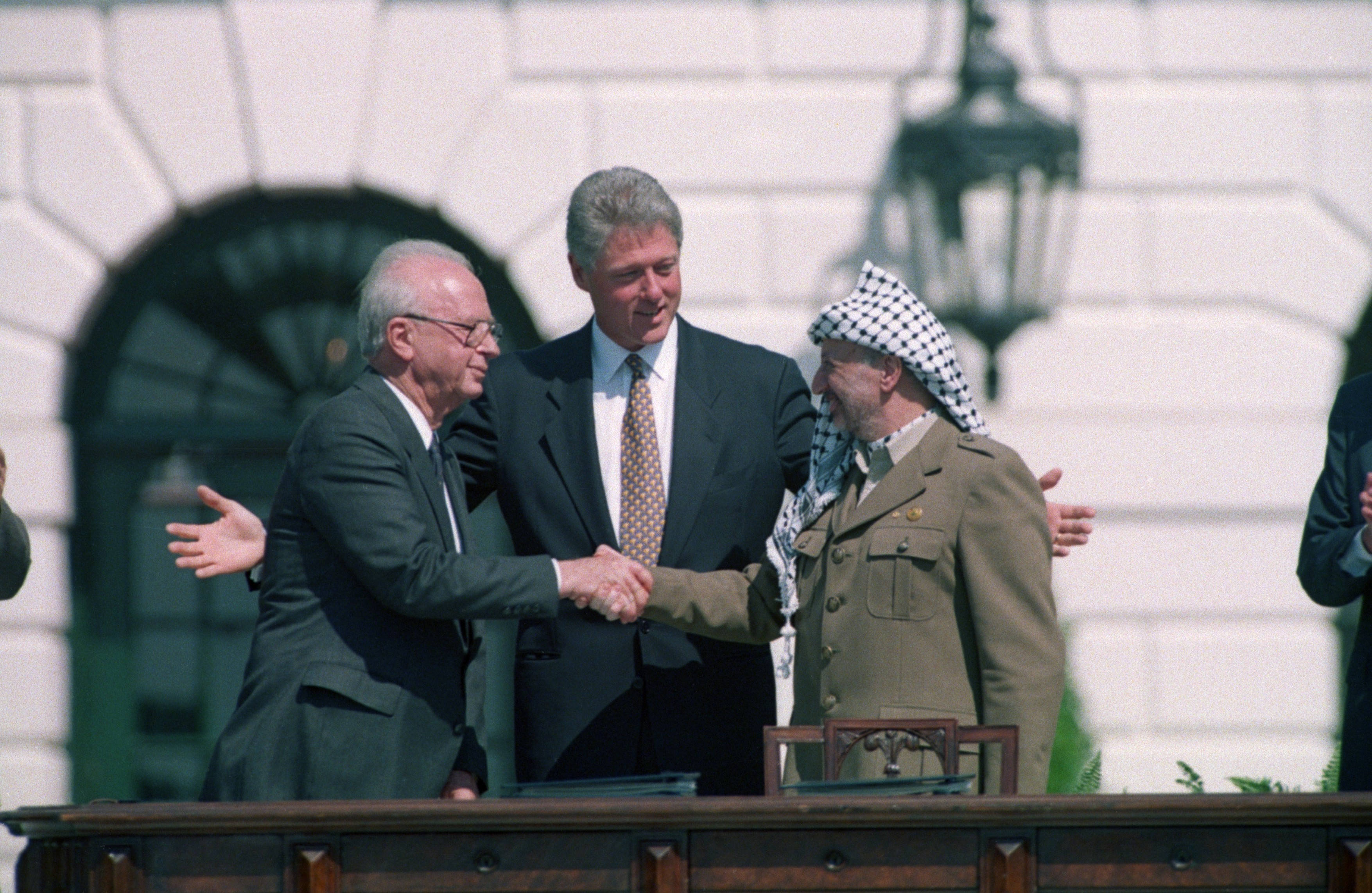 arafat and rabin meet joe