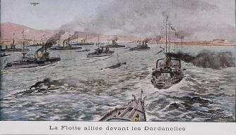 Dardanelles Campaign, General d'Amade, Admiral Boué de Lapeyrère, WWI, World War I