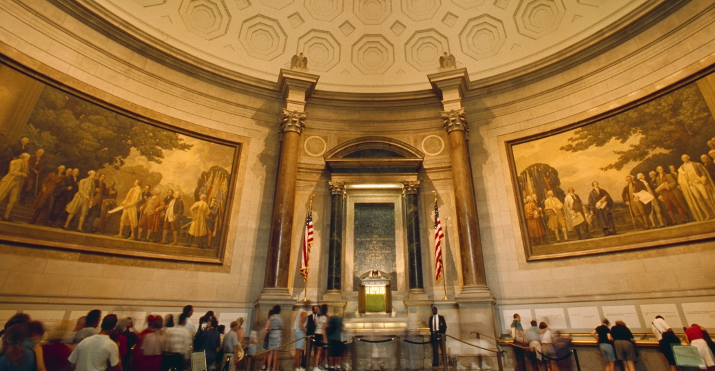 charters of freedom, national archives, rotunda, national archives building, washington d.c., district of columbia