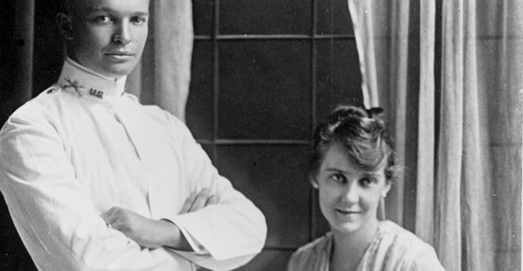 1916, marnie doud, dwight d eisenhower, wedding, married