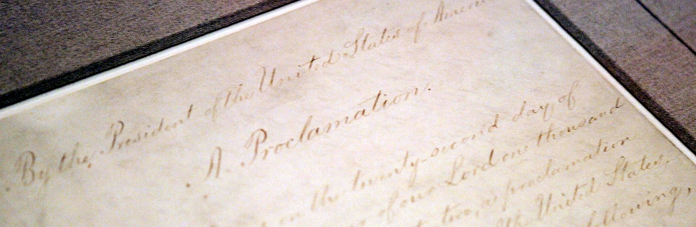 emancipation proclamation essays