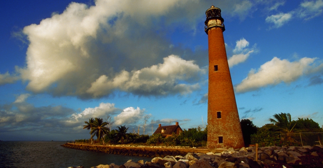 cape florida lighthouse, biscayne bay, florida