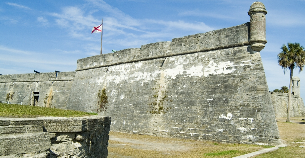 castillo de san marcos, masonry fort, spanish fortress, matanzas river bay, florida