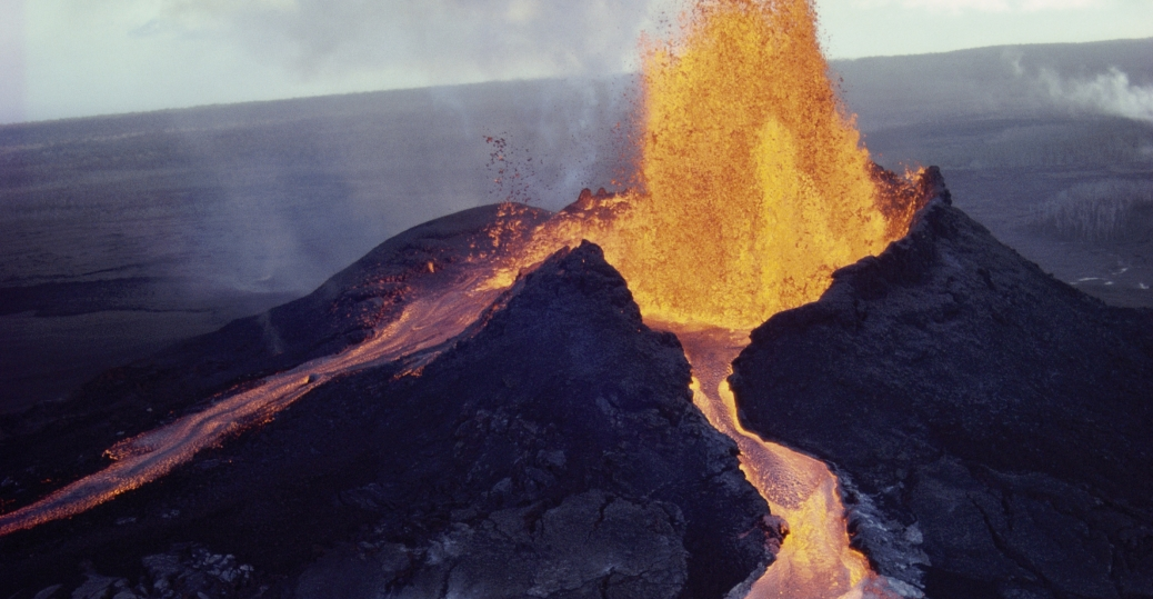 puu oo, kilauea, volcano, lava, hawaii, erupting