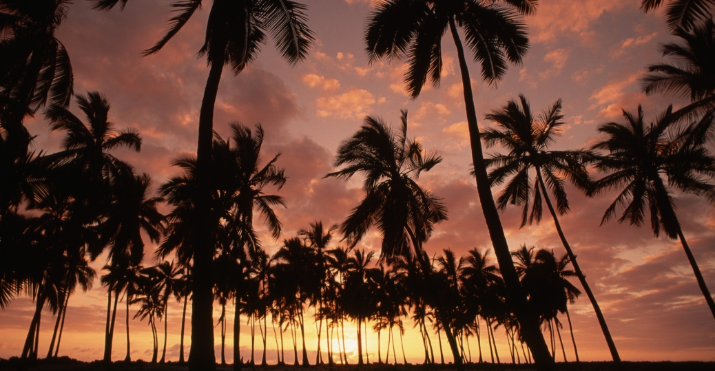 sunset, hawaii, pu'uhonua o honaunau, national historic park, place of refuge, island