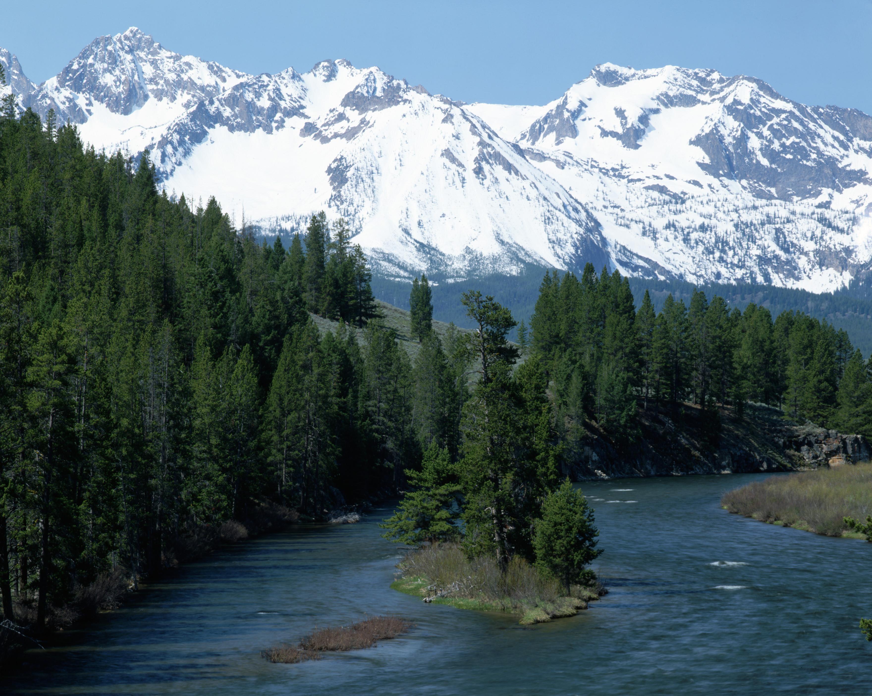 salmon river, sawtooth mountains, idaho