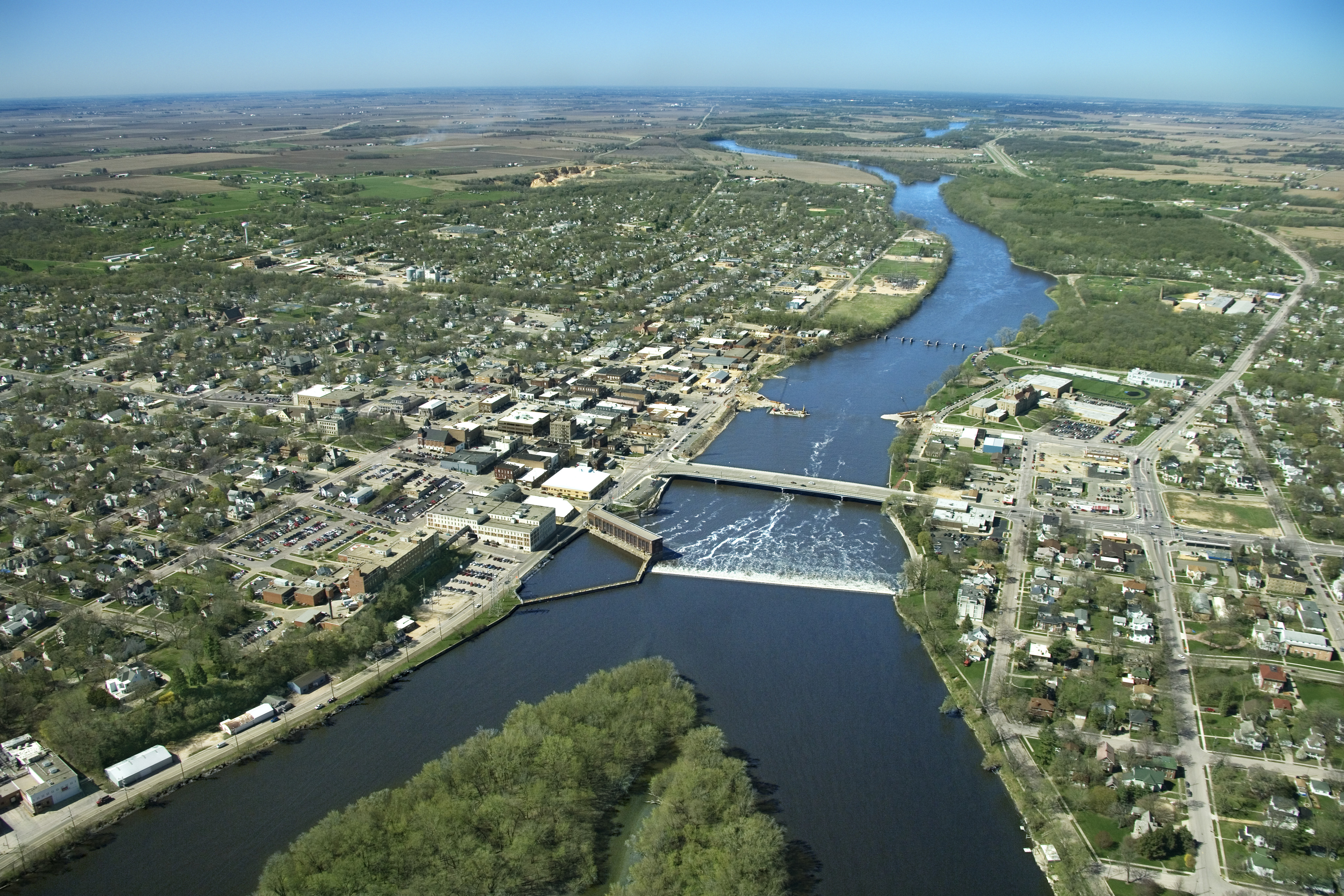Mississippiriverandtownofdubuqueiowausa Iowa Pictures - Longest river in the united states