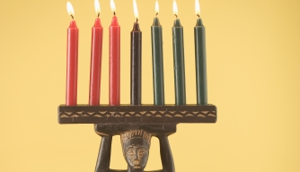 Kwanzaa Candles and Djembe