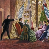 john wilkes booth, abraham lincoln, assassination, april 14 1865, ford's theater