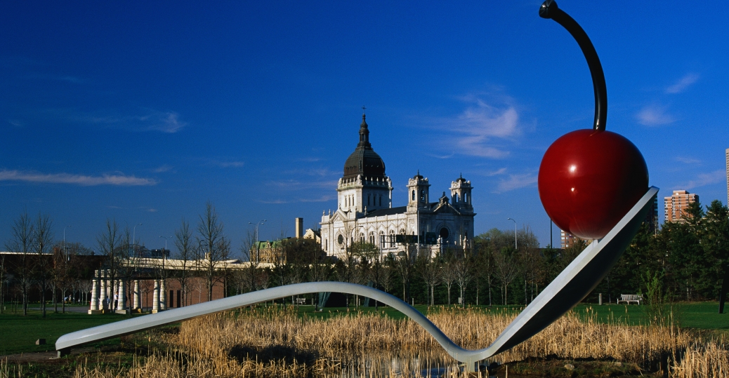 minneapolis, sculpture garden, urban sculpture garden, minnesota, spoonbridge, cherry sculpture