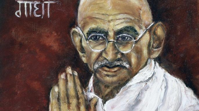 Painting of Mohondas Gandhi