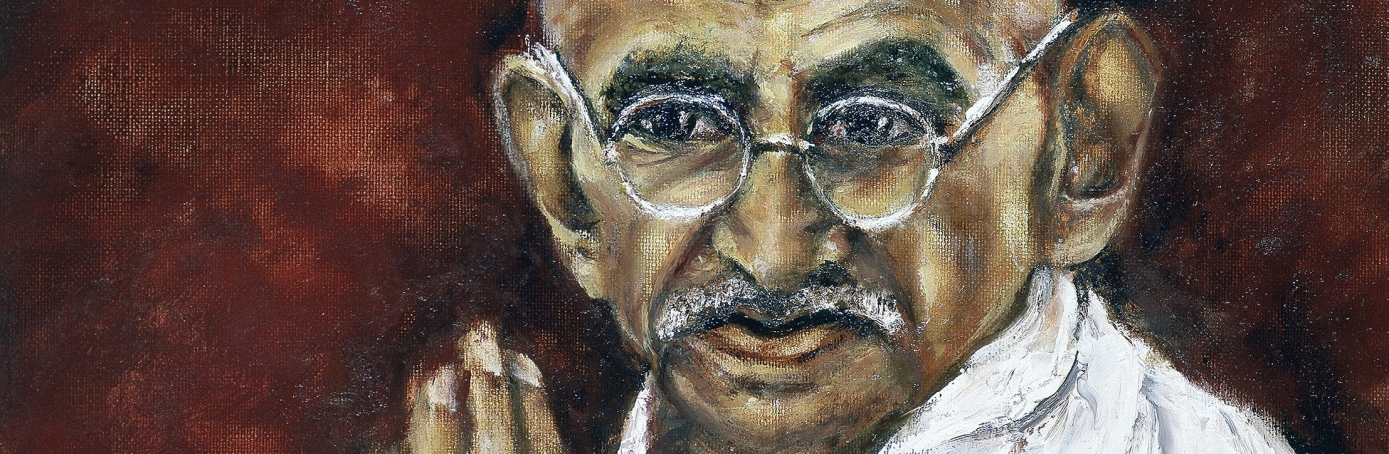 Painting of Mohondas Gandhi