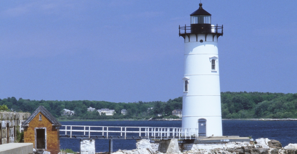 portsmouth, portsmouth lighthouse, fort constitution, new castle, piscataqua river, new hampshire
