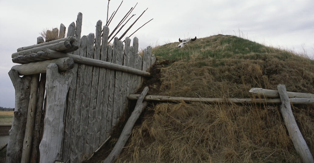earthlodge, knife river, indian village, national historic site, hidatsa tribes, lewis and clark trail, north dakota