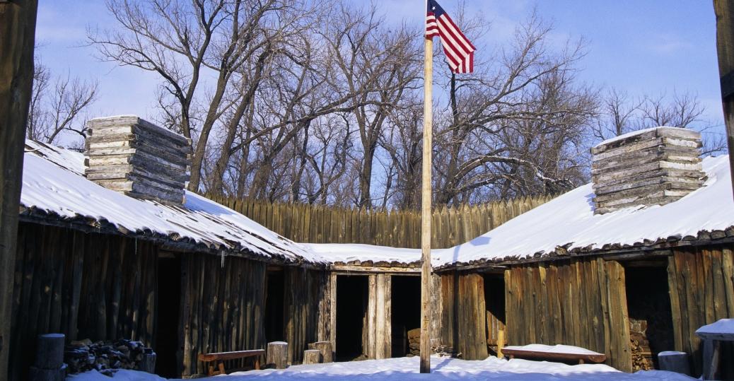 Fort mandan in winter north dakota pictures north dakota history