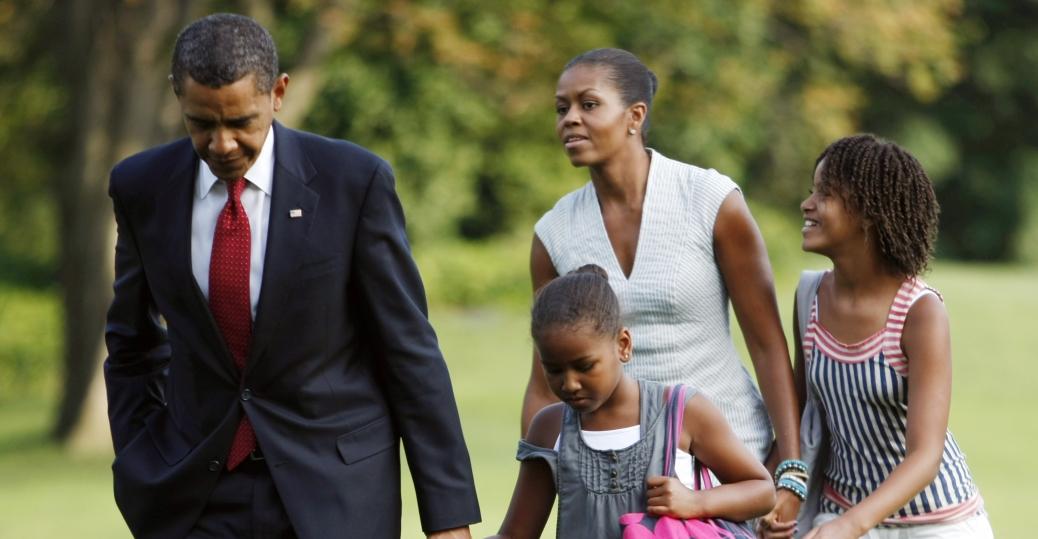 malia obama, sasha obama, michelle obama, barack obama