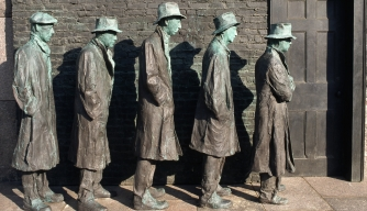 Poor Figures From Great Depression Breadline