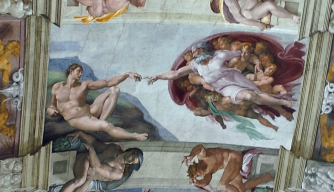 """The Creation of Adam"" from the Sistine Chapel"