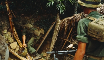 US Marines Searching Cu Chi Tunnels for Viet Cong