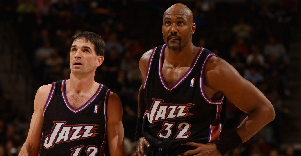 john stockton, karl malone, utah, utah jazz, basketball