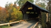 gold brook covered bridge, stowe, vermont, bridge