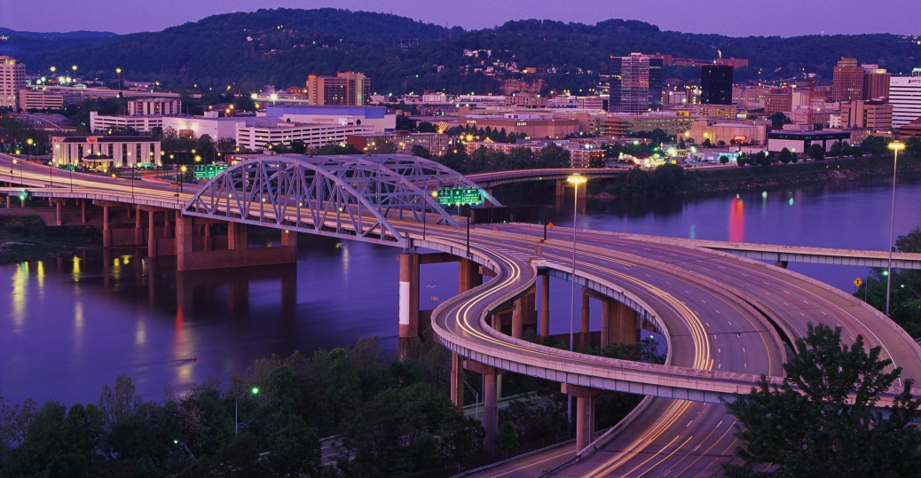 kanawha river, ohio river, west virginia, charleston