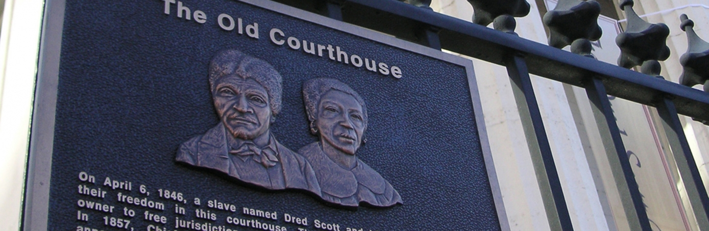 Old Courthouse plaque of Dred and Harriet Scott