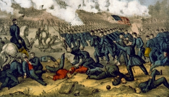 Painting of Battle of Fredericksburg