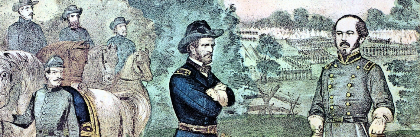 Union and Confederate leaders discuss terms of surrender