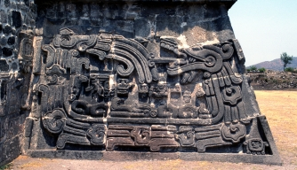 Temple of the Feathered Serpent in Xochicalco, Morales