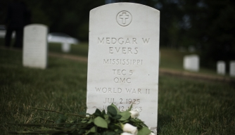 Medgar Evers gravestone in Arlington National Cemetery